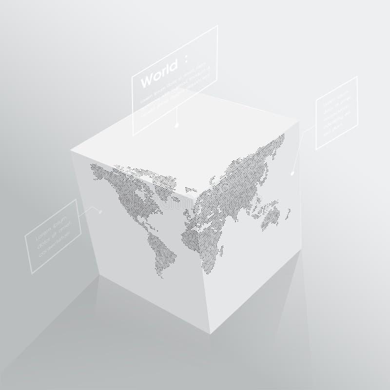 3D mapa do mundo 2 ilustração do vetor