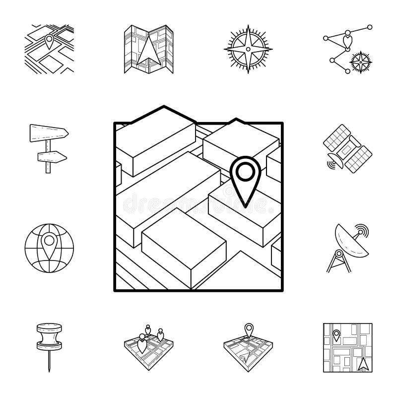3d mapy nawigatora ikona Szczegółowy set nawigacj ikony Premia graficzny projekt Jeden inkasowe ikony dla stron internetowych, si ilustracji