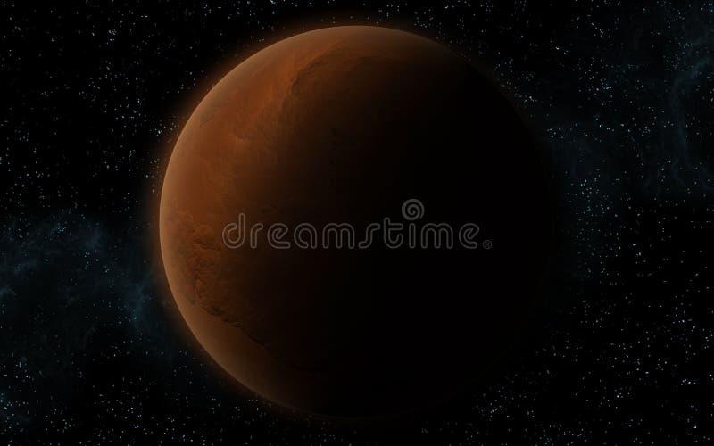 3d Mars jak planeta ilustracji