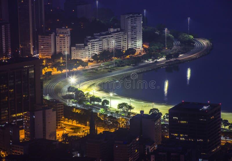 Dusk at Mirador Dona Marta. In Rio de Janeiro Brazil stock images