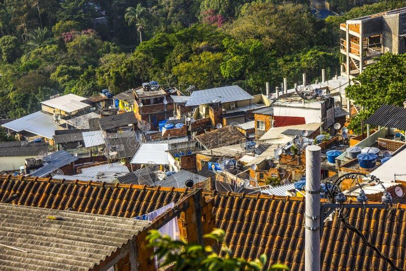 View of the top of Santa Marta favela. In Rio de Janeiro royalty free stock image