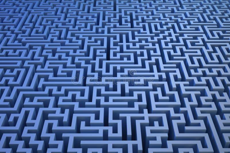 3D maze background stock illustration