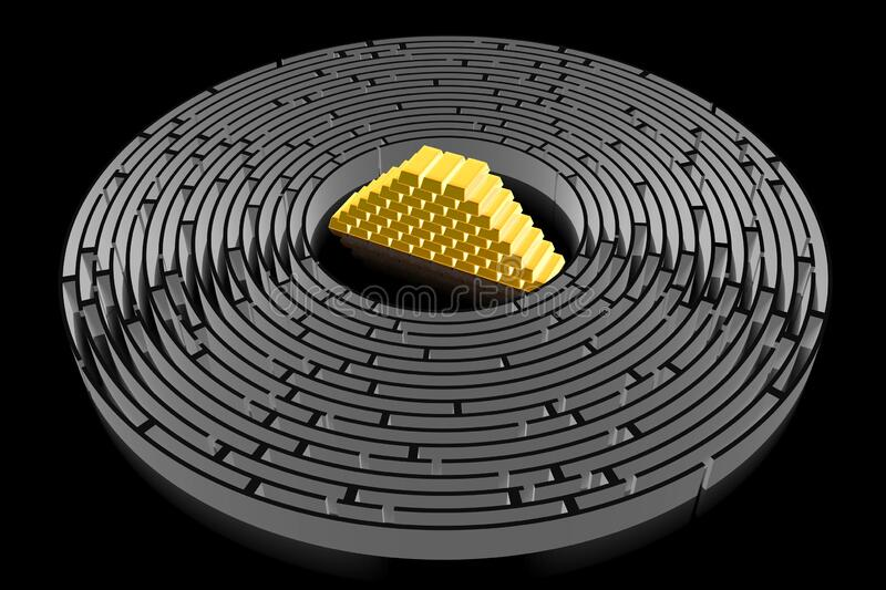 3D maze/ labyrinth concept royalty free stock image