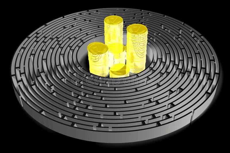 3D maze/ labyrinth concept stock photos