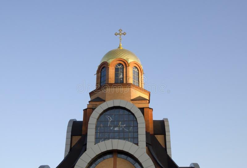 Dôme d'église chrétienne image stock