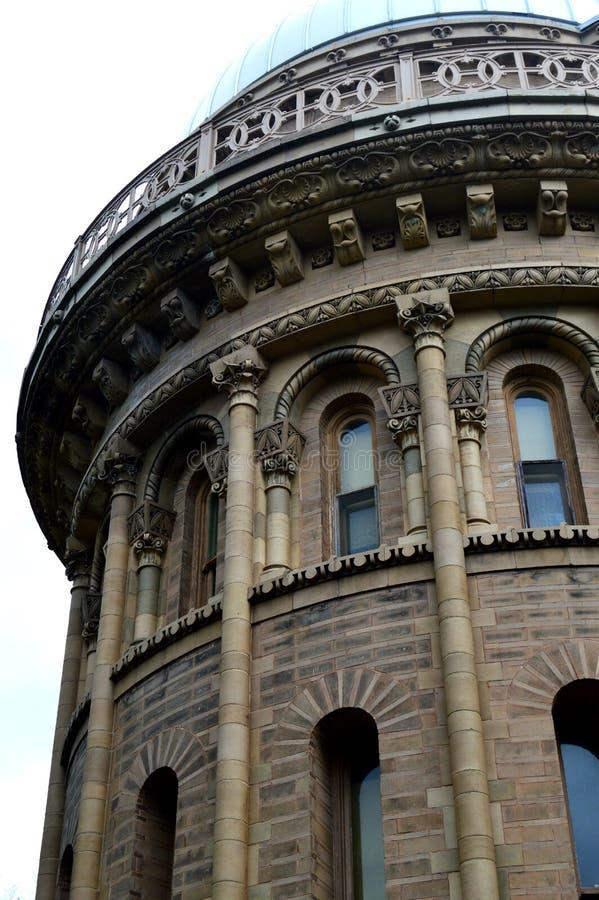 Dôme d'observatoire de Yerkes un plus petit photographie stock libre de droits