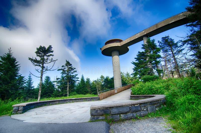 Dôme de Clingmans - parc national de Great Smoky Mountains photographie stock libre de droits