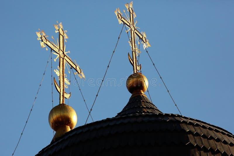 Dôme de l'église orthodoxe images stock
