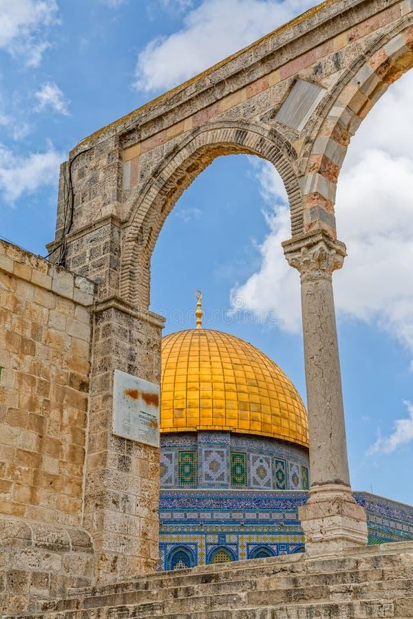 Dôme de la roche l'Esplanade des mosquées photos stock