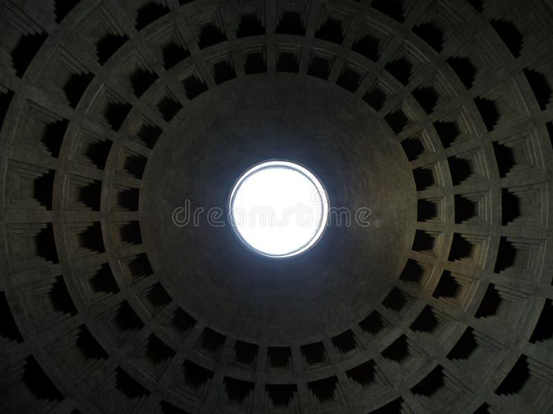 Dôme de temple de Roman Pantheon image stock