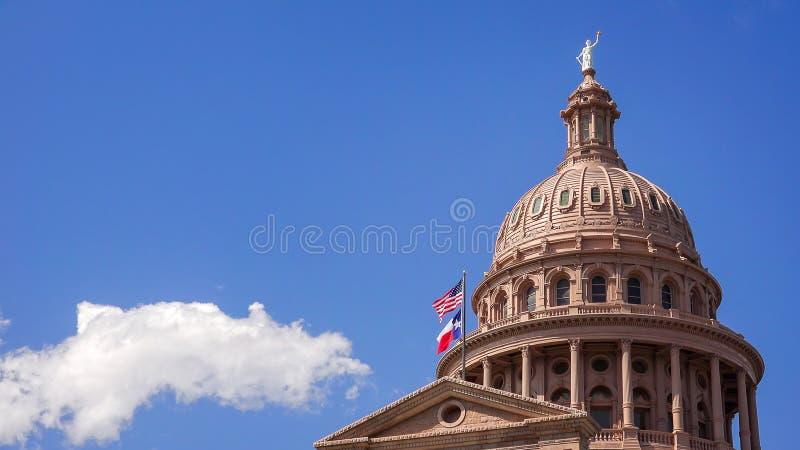 Dôme de Texas State Capitol Building dans Austin images libres de droits