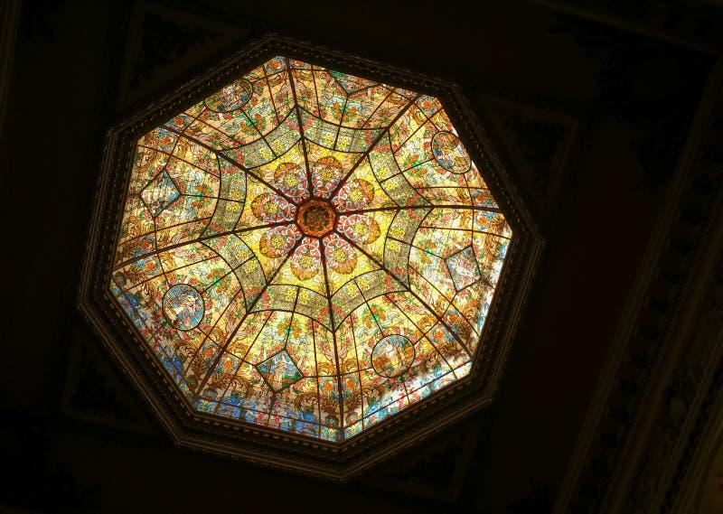 Dôme en verre de deux points de Teatro photographie stock libre de droits