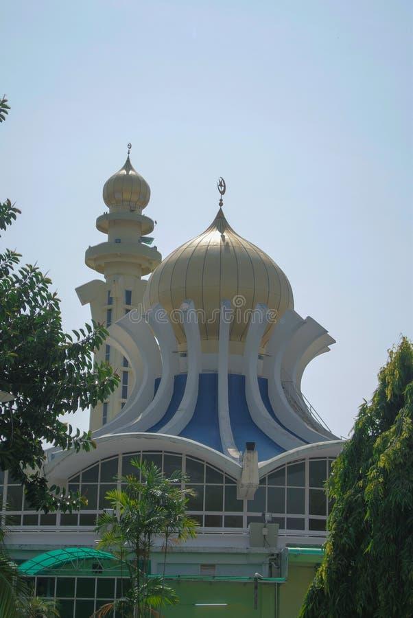 Dôme principal de mosquée d'état de Penang à Penang images libres de droits