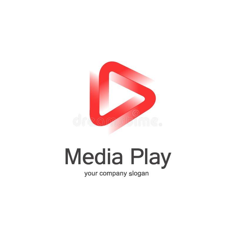 3D media play logo design. Vector illustration vector illustration