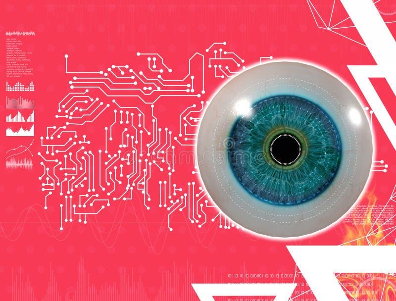3D medische illustratie van het oog vector illustratie