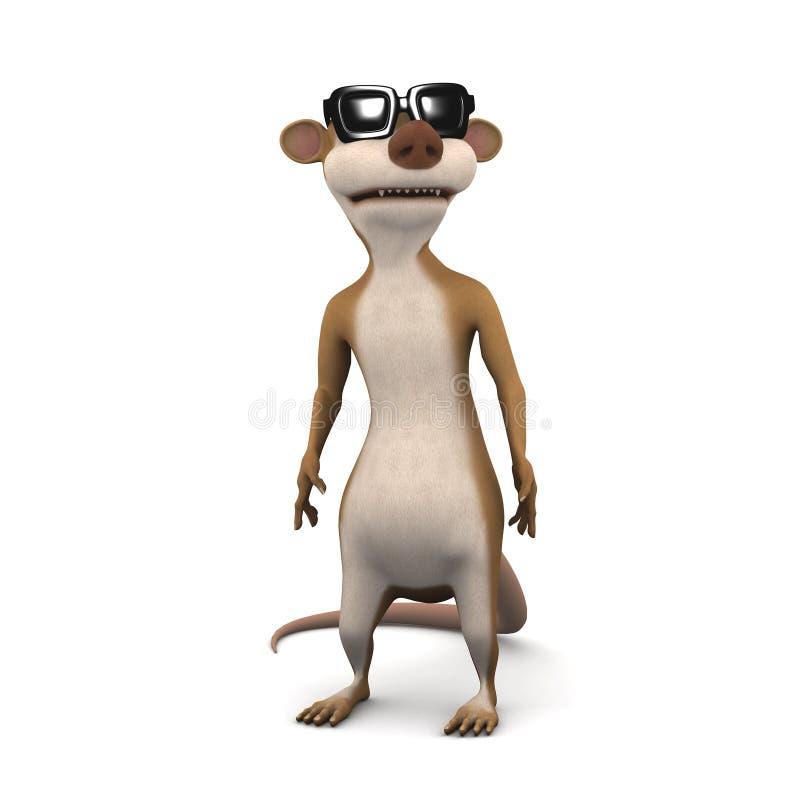 3d Meerkat die zonnebril dragen vector illustratie