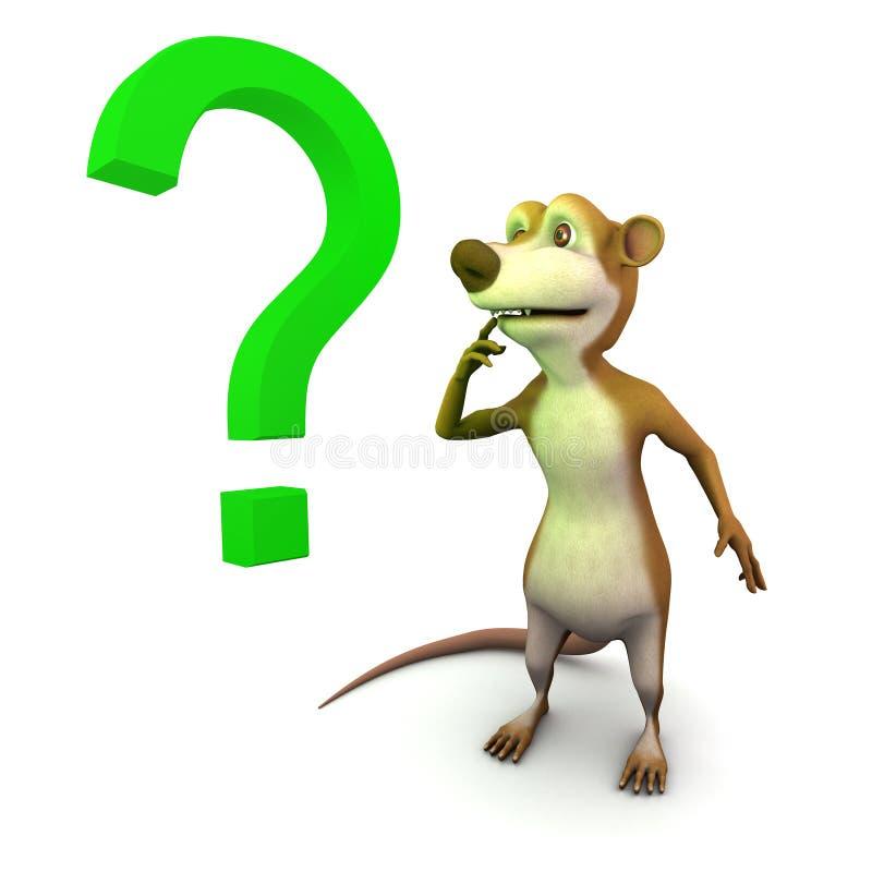 3d Meerkat-vraagteken stock illustratie