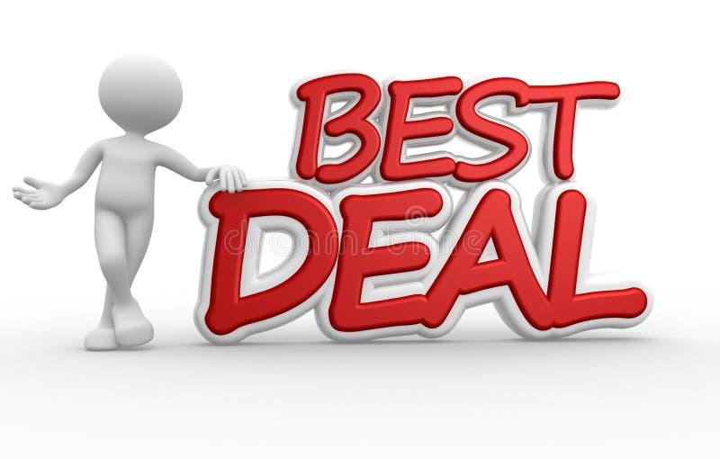 3d men best deal stock illustration. Illustration of advertising - 32316903
