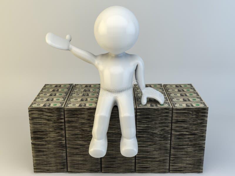 3D mens stock illustratie