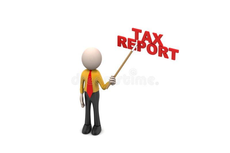 3d mens toont het belastingsrapport vector illustratie