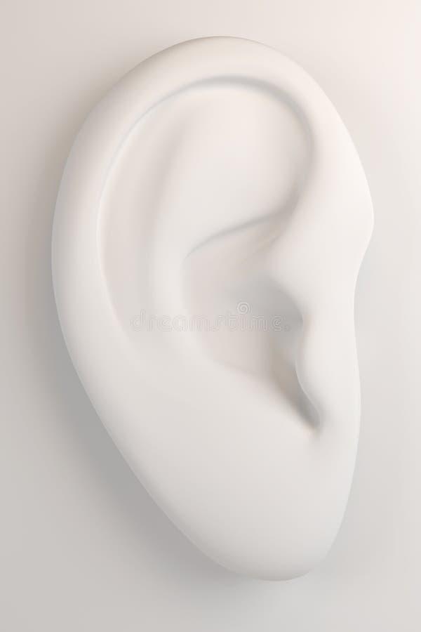 3d menselijk oor royalty-vrije stock afbeeldingen