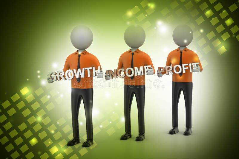 3d mensen die de bedrijfsdoelstellingen tonen stock illustratie
