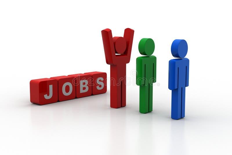 3d mensen die een baan zoeken stock illustratie