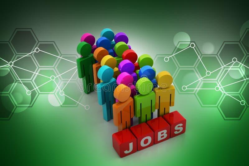 3d mensen die een baan zoeken royalty-vrije illustratie
