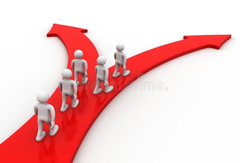 3d mensen maken keus voor partner vector illustratie