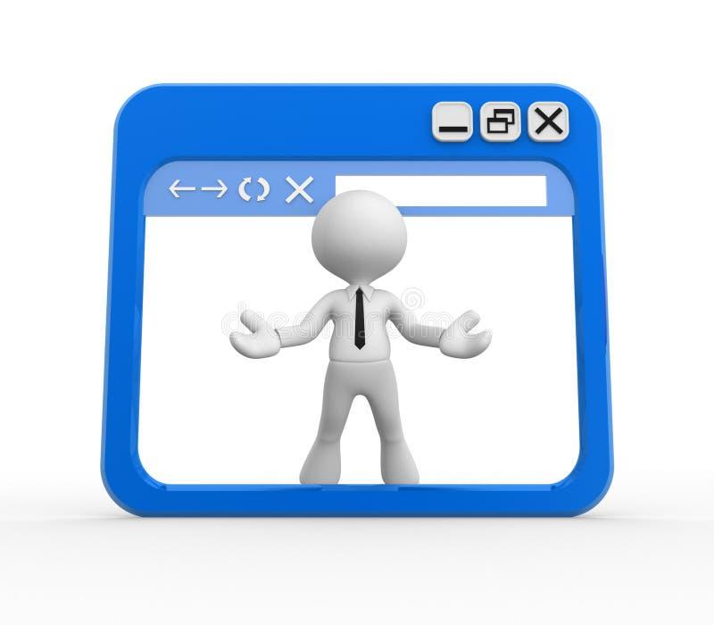 Browser vector illustratie