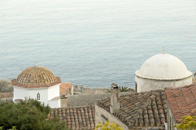 Dômes bizantins d'église photos libres de droits