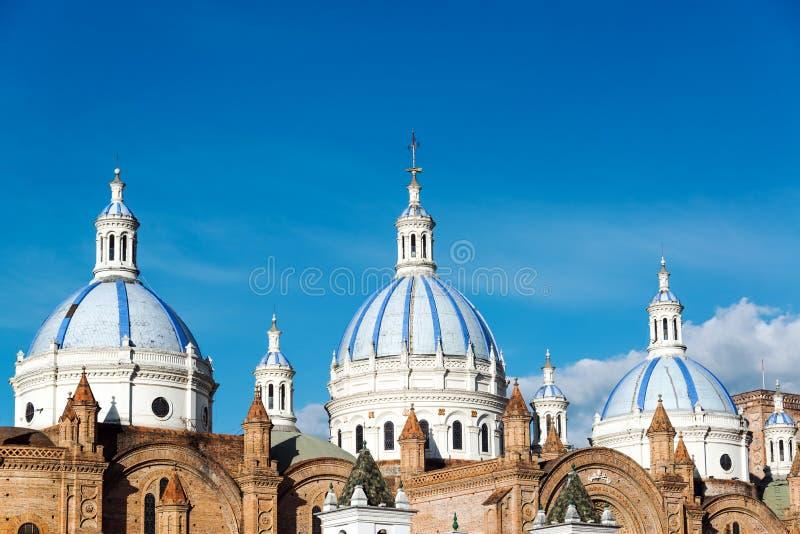 Dômes de cathédrale de Cuenca images libres de droits