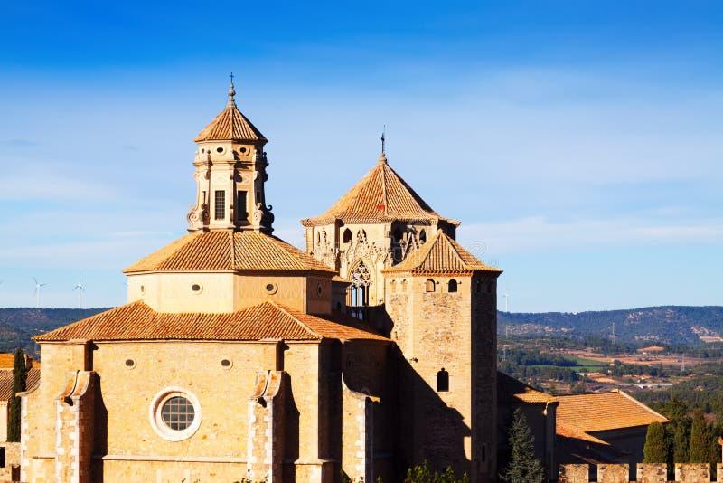Dômes de monastère de Poblet photographie stock libre de droits