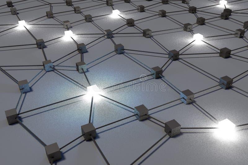 3D, metafory, sieć, internet, związek, struktura, organizacja, grupa ilustracja wektor