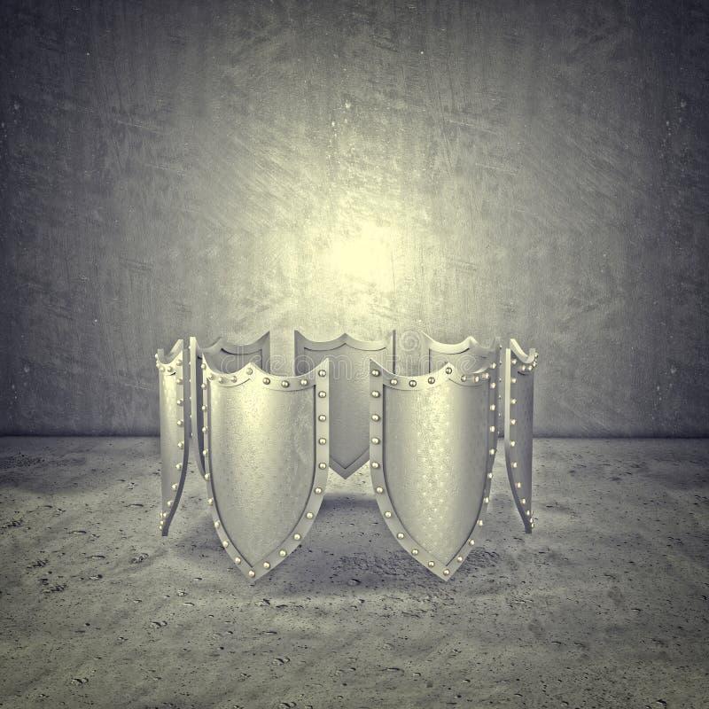 3d metalu osłona obrazy royalty free