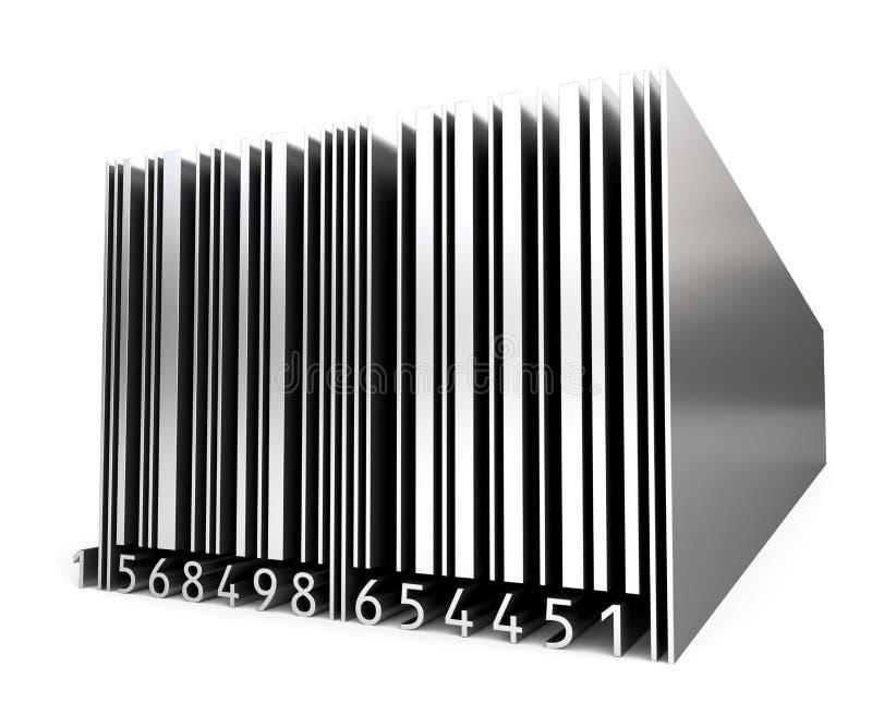 3d metalu prętowy kod royalty ilustracja