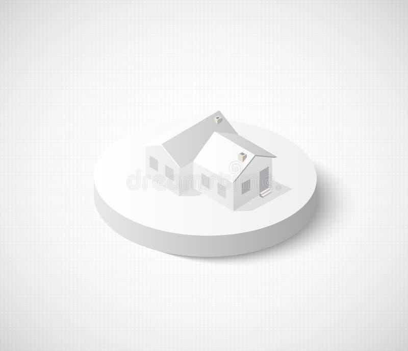 3D miasta isometric ikona ilustracji