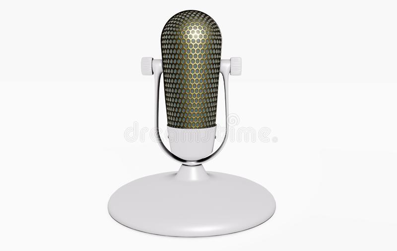 3D microphone on the stand royalty free illustration
