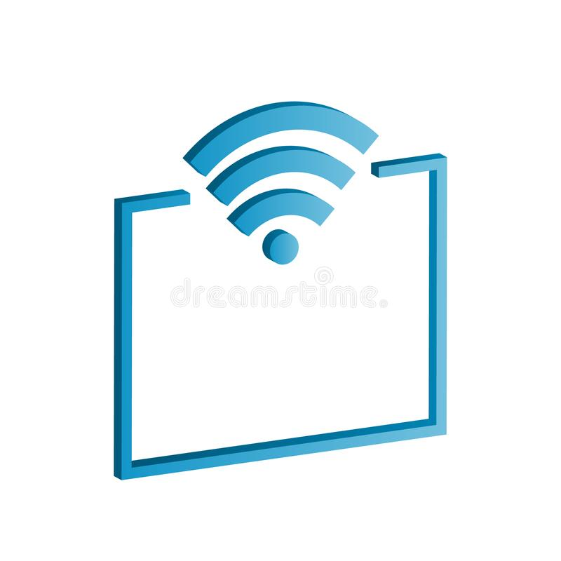3d mobile access point icon with gradient. vector design illustr vector illustration