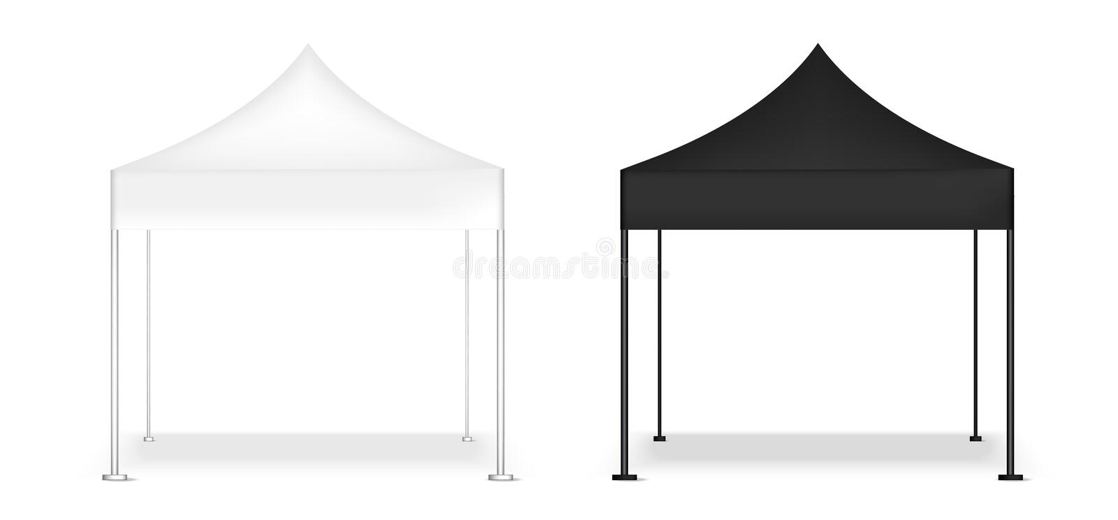 3D Mock up Realistic Tent Display POP Booth for Sale Marketing Promotion Exhibition Background Illustration stock illustration