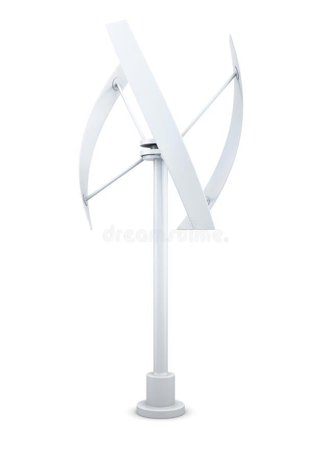 3D modèle d'une source d'énergie alternative - générateur de vent illustration libre de droits