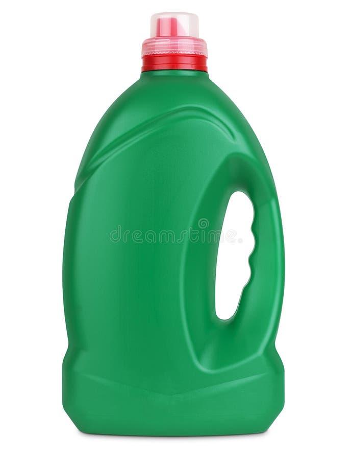 3d model of green plastic bottle stock image