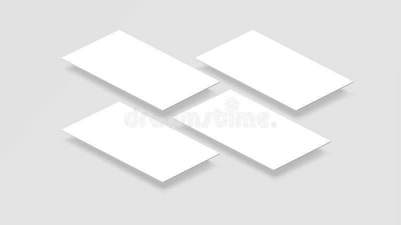3D Model mobiele app interface Het lege app scherm Horizontale 9:16aspectverhouding in witte kleurentoon die door vector wordt ge stock illustratie