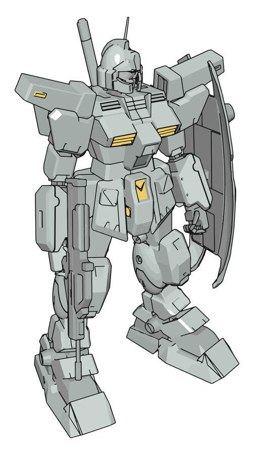 3D model of a robot, illustration, vector stock illustration