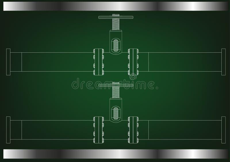 3d model rurociąg ilustracja wektor