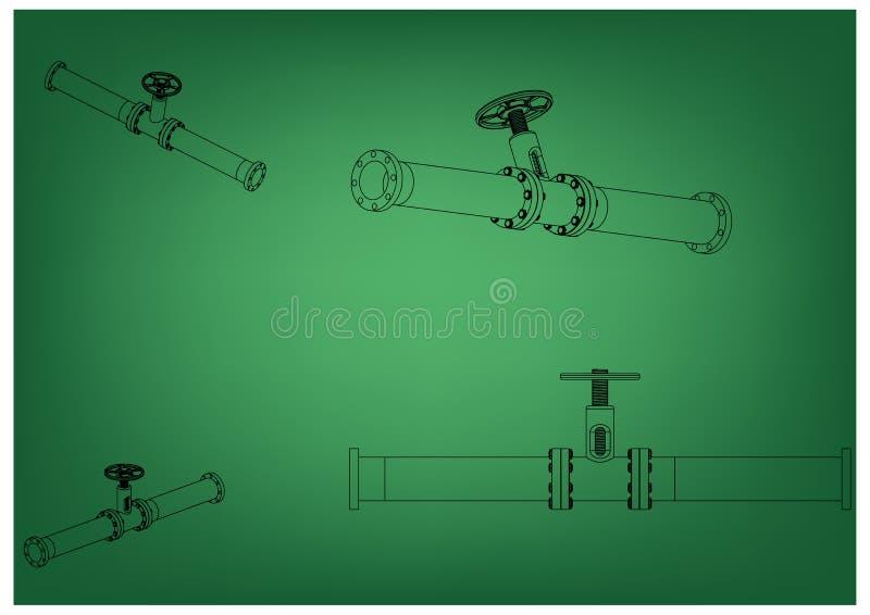 3d model rurociąg ilustracji