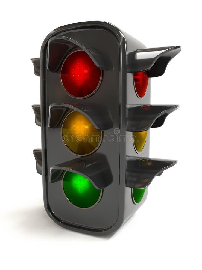 3D model of traffic lights royalty free stock photos