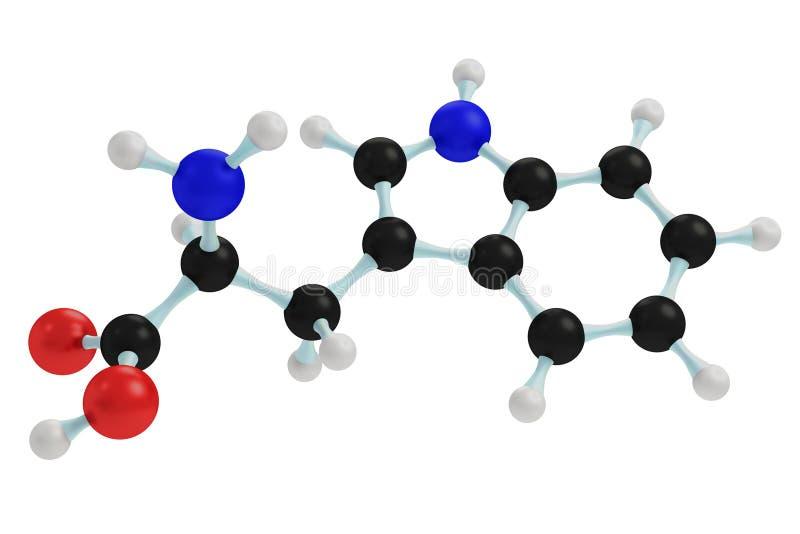 model van tryptofaan vector illustratie