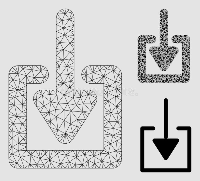 2D Model van het download het het Vectornetwerk en Pictogram van het Driehoeksmozaïek royalty-vrije illustratie