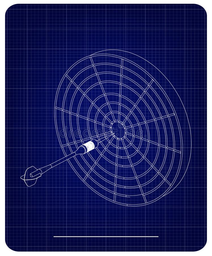 3d model van pijltjes op een blauw vector illustratie
